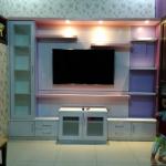 backdrop rak tv gantung bekasi - Backdrop TV HPL Minimalis