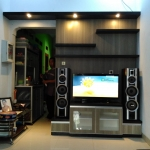 backdrop tv gantung bekasi - Backdrop TV HPL Minimalis