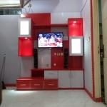 backdrop tv hpl murah bekasi - Pembuatan Backdrop TV Bekasi