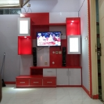 backdrop tv hpl murah bekasi - Backdrop TV HPL Minimalis