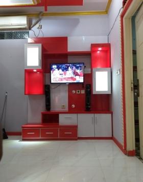 backdrop tv hpl murah bekasi