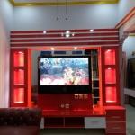 backdrop tv mewah bekasi - Backdrop TV HPL Minimalis