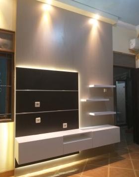 backdrop tv minimalis bekasi