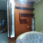 backdrop tv minimalis mewah bekasi - Backdrop TV HPL Minimalis